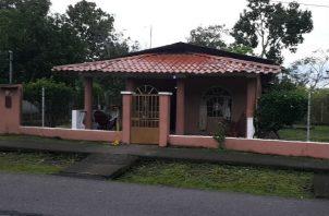 Entrada a la vivienda ubicada en La Mata de Bugaba. Fotos: José Vásquez.