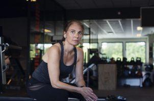 Goril Bjerkan fue al gimnasio varias veces por semana durante un estudio. Foto / Kyrre Lien para The New York Times.