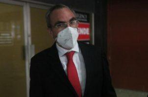 Rolando López, exjefe del Consejo de Seguridad, durante su comparecencia ayer en el Sistema Penal Acusatorio. Víctor Arosemena