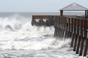 El alcance de los vientos con fuerza de tormenta tropical es de 275 millas (445 km), especialmente en la zona norte o noreste del centro del sistema.