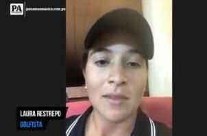Golfista panameña Laura Restrepo a las grandes.