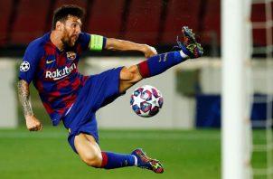 Leo Messi fue figura frente al Nápoles. EFE