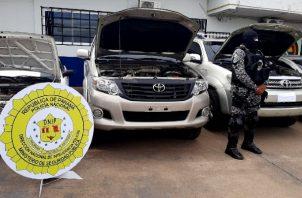 Policía Nacional recuperan autos con reporte de hurto en Coclé. Foto: Cortesía