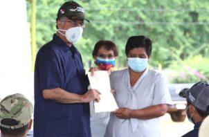 El presidente Cortizo señaló que el gobierno está para ayudar a los que más lo necesitan.