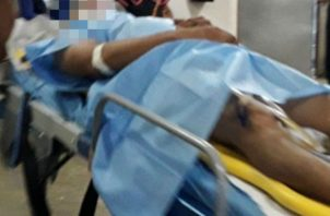 La víctima de 50 años de edad sobrevive de milagro. Fotos: Mayra Madrid.