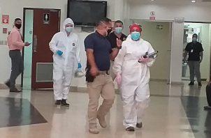 A uno de los detenidos se le ofreció ayuda médica, y la evaluación determinó que le hacua falta alimentarse. FOTO/MAYRA MADRID