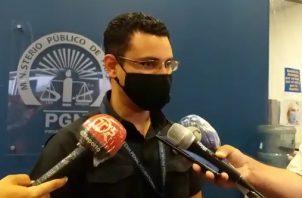 El Fiscal de Adolescentes Jhony Torres, detalló que se pudo probar que el imputado presuntamente violó a un menor de 10 años. FOTO/MAYRA MADRID