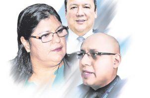 Tania Sterling, Eduardo Ulloa y Emeldo Márquez.