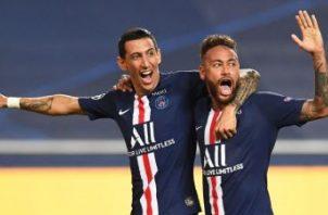 Di María y Neymar, en uno de los partidos de la Champions. Foto:EFE