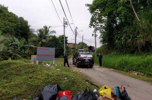 La Policiía Nacional, mantiene vigilancia en el área de Valle Verde. FOTO/DIOMEDES SÁNCHEZ