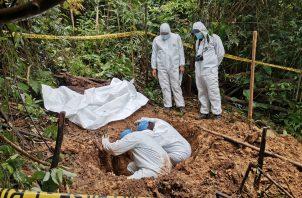El Ministerio Público ordenó la exhumación de los restos óseos. FOTO/@PGN