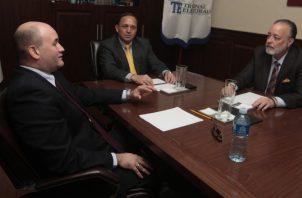 Alfredo Juncá, Heriberto Araúz y Eduardo Valdés Escoferry, magistrados del Tribunal Electoral. Archivo