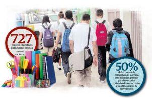 La morosidad en los colegios particulares se ubica entre un 45% y 95%.