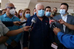 """""""Somos el nuevo partido que devolverá la vida y esperanza a todos los panameños que han perdido la oportunidad la ilusicion de volver a soñar y lograr ser lo que queremos ser no lo que quieran seamos"""", dijo Ricardo Martinelli."""