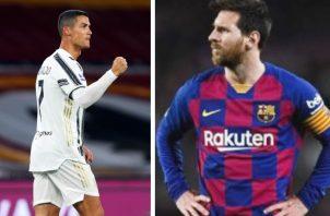 Ronaldo y Messi. Foto:EFE