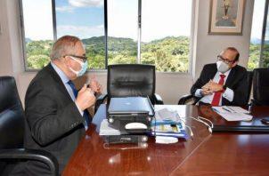 Durante la reunión también se abordó el tema de la Ciudad de la Salud.