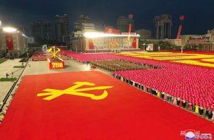 A pesar del tono aparentemente conciliador empleado por Kim en su intervención, Pionyang exhibió en el posterior desfile nuevo armamento de diverso tipo, empezando por un nuevo misil balístico de alcance intercontinental (ICBM).