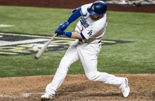 Max Muncy de los Dodgers. Foto:EFE