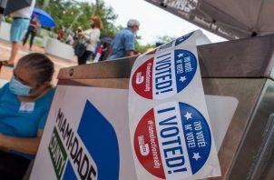 Las posibilidades de votar por correo se han ampliado este año debido a la pandemia. Foto:EFE