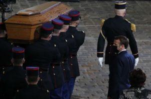 """Francia """"no renunciará a las caricaturas"""", dijo el presidente Emmanuel Macron. Foto: EFE."""