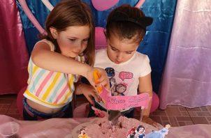 El festejo del cumpleaños número tres de María Eduarda se realizó en la Ciudad de Pato Branco, en Brasil. Foto: Instagram