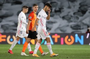 El centrocampista del Real Madrid Marco Asensio (dSER) en el partido ante el Shakhtar. Foto:EFE