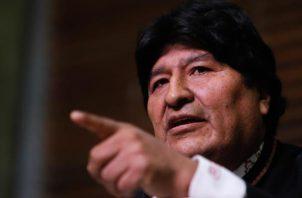 """El lunes de esta semana, Morales dijo en una rueda de prensa que """"tarde o temprano"""" volverá a Bolivia y reiteró que los procesos judiciales que pesan sobre él en su país son """"parte de una guerra sucia"""". Foto: EFE"""