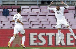 Sergio Ramos marcó de penal para el Madrid.