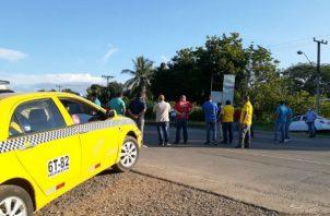 La reunión de los transportistas selectivos fue en la ciudad de Chitré. Foto: Thays Domínguez.