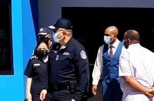 Jorge Miranda participó en la inauguración de las oficinas de la Policía de Turismo en Colón.