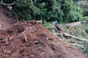 Varios postes del tendido eléctrico también se encuentran en el suelo a consecuencia de los deslizamientos de tierra. Foto: Eric A. Montenegro.