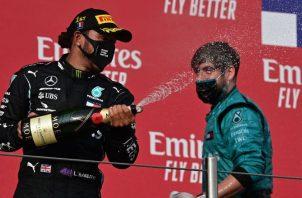 Lewis Hamilton se acerca al séptimo título de su carrera en la Fórmula Uno. EFE