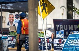 El promedio de las encuestas de hoy muestra una leve ventaja de 0,7 puntos de Biden sobre Trump en Florida, de acuerdo con el portal RealClearPolitics.