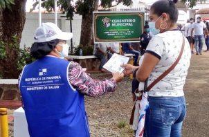 Minsa mantuvo vigilancia en los cementerios para garantizar cumplimiento de normas de bioseguridad. Foto: Cortesía