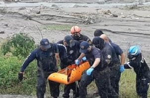 Se informó que se trata de un hombre que perdió la vida producto del deslave en el distrito de Renacimiento, provincia de Chiriquí.
