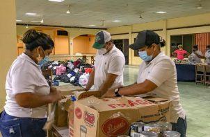 En Natá se trabajó arduamente para enviar la ayuda humanitaria a los damnificados.