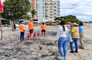 Las actividades de playa podrían cerrarse si se ponen en peligro los indicadores.