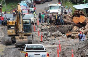 El distrito de Tierras Altas, en la provincia de Chiriquí, fue golpeado por las intensas lluvias que provocó el paso del huracán Eta. Foto: EFE