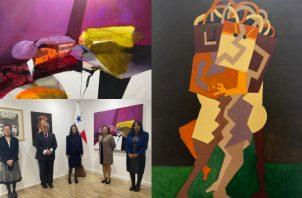 Las obras de Olga Sinclair y Julio Zachrisson fueron exhibidas con trabajos de artistas de Honduras, El Salvador y Nicaragua. Foto: Cortesía