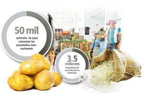 El consumo de la papa y la cebolla es de 50 mil quintales al mes en cada rubro.