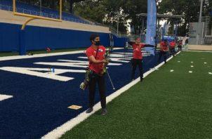 Panameños en el torneo de ayer. Foto:Cortesía