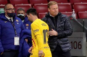 Messi llega con derrota a los 800 partidos en el Barcelona.
