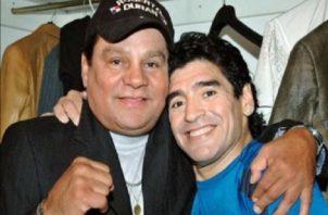 Roberto Durán y Maradona tenían una buena relación.