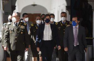 La ministra de Gobierno, María Paula Romo