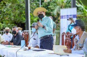 Las declaraciones del mandatario Laurentino Cortizo se dieron durante una gira de trabajo en el distrito de Mariato, en Veraguas.
