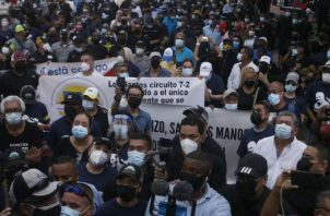 Miles de personas acudieron ala marcha convocada por el partido Realizando Metas. Archivo