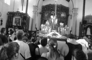 La tradicional peregrinación a Portobelo, el pasado 21 de octubre de 2020, fue diferente por la situación de la pandemia de la COVID-19. Foto Archivo.
