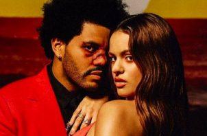 The Weeknd y Rosalía. Foto: Instagram