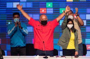 La alianza oficialista venezolana del Gran Polo Patriótico (GPP) ganó con rotundidad las elecciones legislativas venezolanas. Foto:EFE
