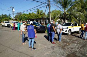 Personal de salud realiza un trabajo intenso de trazabilidad en los sectores más afectados de Dolega. Foto: José Vásquez
